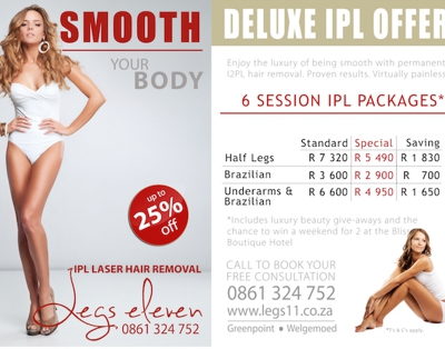 Our New Deluxe IPL Package! Win a weekend away!
